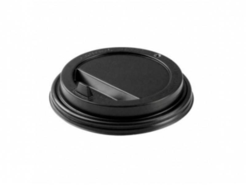 Крышка для горячих напитков 90 мм (черная/белая)